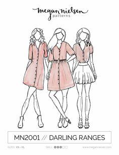 Darling Ranges Dress: Megan Nielsen Patterns: Intermediate Sewing and Dressmaking.