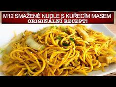 Smažené nudle s kuřecím masem. Originální recept - YouTube Spaghetti, Good Food, Food And Drink, Cooking Recipes, Make It Yourself, Ethnic Recipes, Instagram, Facebook, Youtube