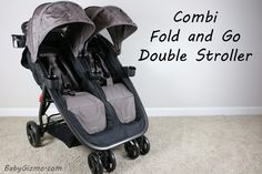 Combi Fold and Go Double stroller review and giveaway with Baby Gizmo!!!