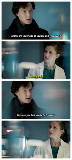 """Because Sherlock and Molly need some chemistry pick-up lines in their lives."""