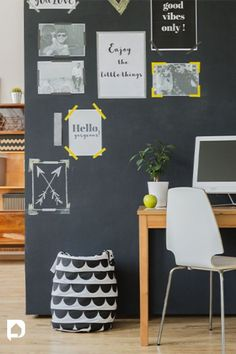 Take cues from our lowdown on easy DIY chalkboard paint ideas for your home. Read now! //chalkboard //paintideas //homepaints //homeideas Bedroom Wall Paint Colors, Room Wall Painting, Wall Paint Colour Combination, Diy Chalkboard Paint, Good Vibes Only, Muted Colors, Kids Bedroom, Easy Diy, Paint Ideas