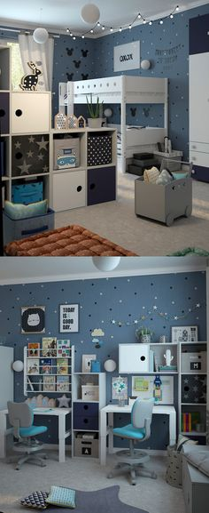 (^ o ^) Kiddo (^ o ^) Lofty ~ Kids Loft Bed - & gallery of works . - (^ o ^) Kiddo (^ o ^) Lofty ~ Kids Loft Bed – & Gallery - Boy Toddler Bedroom, Toddler Playroom, Baby Boy Rooms, Bedroom Boys, Playroom Ideas, Baby Beds, Trendy Bedroom, Kids Bedroom Designs, Baby Room Design