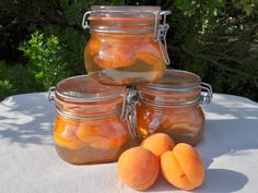 Recette abricots au sirop en conserve maison, cuisinez abricots au sirop en conserve maison