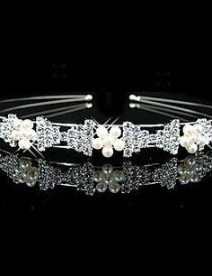 Women's/Flower Girl's Rhinestone/Imitation Pearl Headpiece - Wedding Headbands