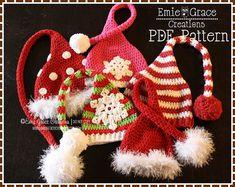 Stocking Cap Hat Crochet Pattern 8 Sizes door EmieGraceCreations
