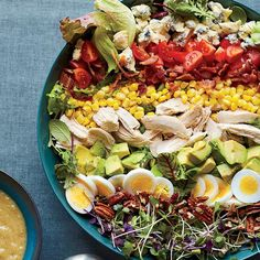 Southern Cobb Salad with Roasted Sweet Onion Dressing | This fantastic salad gets a boost of flavor from a toasty roasted sweet onion and garlic dressing.