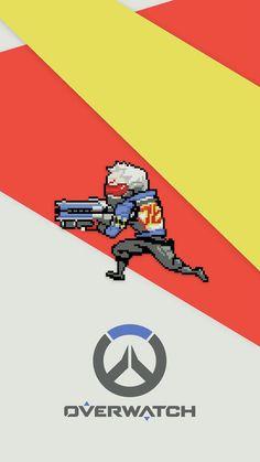 Overwatch - Soldier: 76 Pixel Mobile Wallpaper