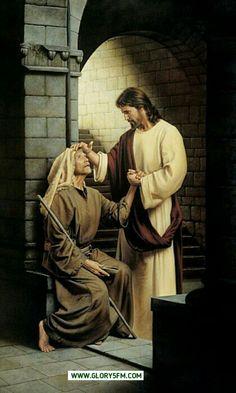 Jesús sana un ciego . Amor