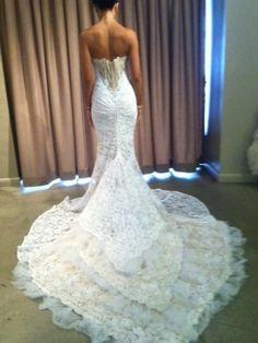 2013 Inbal Dror lace dress, amazing detail!