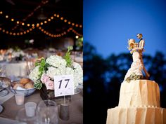 love the centerpiece DIY Rustic Summer Wedding