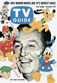 """Walt Disney's wonderful world of color - on the cover, at least: The show that began life as """"Disneyland"""" in black and white became colorized in 1961. As of 2012, this classic series now only shows on Disney Junior, their pre-tween cable outlet."""