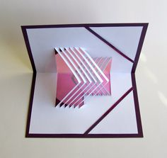 3D POP UP CARD of Geometric Lines in Opposite by BoldFolds on Etsy, $25.00