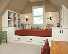 """View and collect Traditional Kids Bedroom design ideas at Zillow Digs. Attic Renovation, Attic Remodel, Attic Bedrooms, Kids Bedroom, Extra Bedroom, Upstairs Bedroom, Kids Rooms, Boys Bedroom Ideas Teenagers Small Spaces, Attic Bedroom Ideas For Teens"