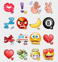 Viber Emoticons Stickers Set | Telegram Stickers