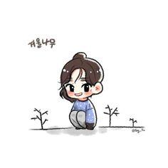 Go watch I'm all years Chibi, Kim Tae Yeon, Cartoon Wallpaper, Snsd, Pop Group, Cute Art, Anime Art, Character Design, Snoopy