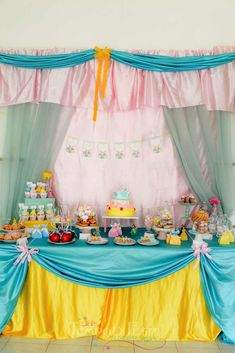 Disney Princess birthday party! See more party ideas at CatchMyParty.com!