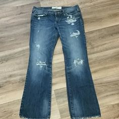 Abercrombie and Fitch jeans sz 6S/ 28 In new condition distressed jeans  very cute just too big for me 31L Abercrombie & Fitch Jeans Boot Cut