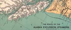 #Map of #Alaska Excursion Steamer Routes (1891)