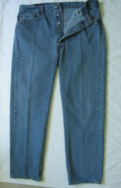 Vtg LEVI'S 501 Men's Jeans Button fly Classic Straight Leg 38 x 32 USA Made #Levis #ClassicStraightLeg