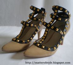 A Matter Of Style: DIY Fashion: Valentino inspired studded shoes DIY