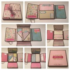 "My Minds Eye ""Memorable"" flip box mini album --Count the Happies-- Mini Album Scrapbook, Mini Album Tutorial, Handmade Books, Handmade Cards, Book Making, Bookbinding, Mini Books, Cardmaking, Paper Crafts"