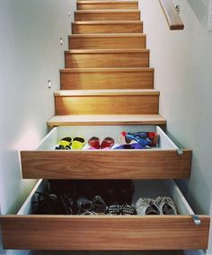 What a great idea :) storage space maximized!!