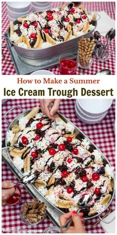 How to Make a Summer Ice Cream Trough Dessert Shopping LIST #reluctantentertainer #summerdesserts #icecream #dessert
