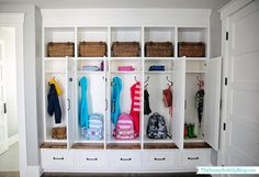 Let these mudroom entryway ideas welcome you home. Instantly tidy up and organize your hallway or entryway with industrial mudroom entryway. Mudroom Cubbies, Mudroom Cabinets, Mudroom Laundry Room, Mud Room Lockers, Entry Lockers, Organizing Your Home, Home Organization, Organisation Ideas, Organizing Ideas