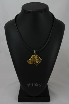 Weimarner millesimal fineness 999 dog necklace by ArtDogshopcenter