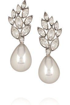 Kenneth Jay Pearl Drop Earrings.