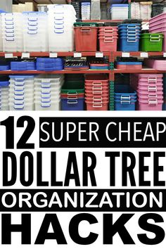Easy and cheap dollar store organization hacks that you can use to organize your home with! You have to try these organization ideas. Kids School Organization, Dollar Tree Organization, Paper Organization, Declutter Home, Organizing Your Home, Organizing Ideas, Dollar Store Hacks, Dollar Stores, Small Apartment Hacks
