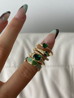 Nail Jewelry, Cute Jewelry, Jewelry Accessories, Stylish Nails, Trendy Nails, Simple Acrylic Nails, Nail Ring, Accesorios Casual, Minimalist Nails
