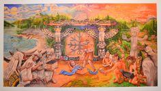 "Nativity by Beau Dick (Kwakwaka'wakw) 21"" x 11"" limited edition print #/11"