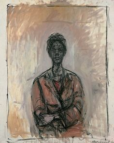 By Alberto Giacometti. (I'm not a huge fan of his skinny sculptures, but his paintings strike a chord.-rk)