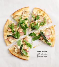 pear pizza with fried sage - still not the biggest fan of feta, so might try it with another salty cheese?