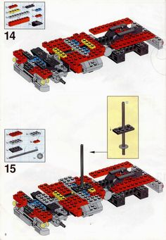 LEGO 5591 Mach II Red Bird Rig instructions displayed page by page to help you build this amazing LEGO Model Team set Lego Truck, Lego Models, Lego Instructions, Cool Lego, Lego Building, Lego Sets, Rigs, Cars And Motorcycles, Hot Rods