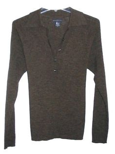 Banana Republic Vintage Military Luxe Collar Style Womens Sweater