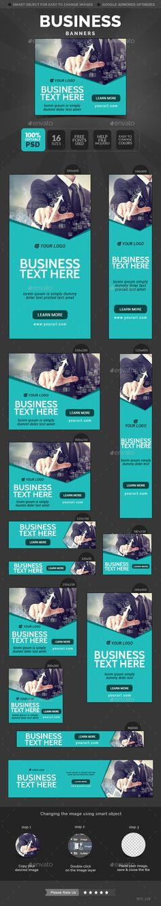 Business Banners Template #design Download: http://graphicriver.net/item/business-banners/11722529?ref=ksioks