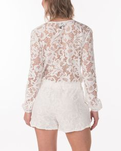 Romeo + Juliet Couture | Women's Lace Wrap-Front Romper | Country Outfitter