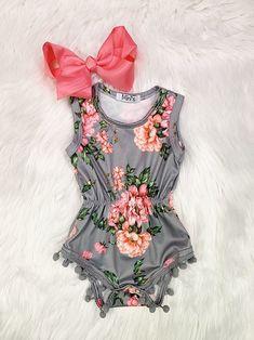 Orange County Pom Pom Romper - my best baby product list Newborn Girl Outfits, Cute Baby Girl Outfits, Toddler Outfits, Kids Outfits, Fashion Kids, Baby Girl Fashion, My Baby Girl, Baby Girl Newborn, Baby Love