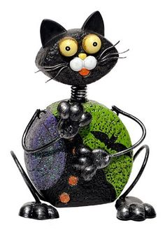"8"" Ceramic Halloween Cat Figure Home & Garden Decor by Transpac, http://www.amazon.com/dp/B008UEH5B0/ref=cm_sw_r_pi_dp_r7Htsb1A32VHE"