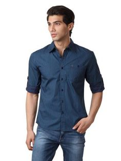 Wrangler Men Navy Blue Shirt | Myntra via @myntra
