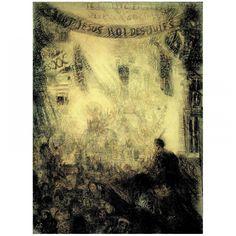 De intrede van Christus in Jeruzalem. 1885, contépotlood, potlood, zwart en bruin krijt, coulage gedoubleerd op Japans papier, James Ensor