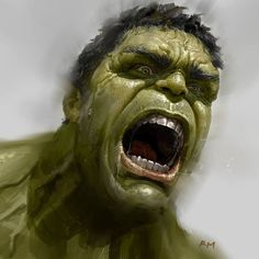 "1,342 Likes, 27 Comments - Ryan Meinerding SDCC #5555 (@ryan_meinerding_art) on Instagram: ""The Hulk!  This image was done to help figure out his ultra rage mode from Avengers: Age of Ultron.…"""