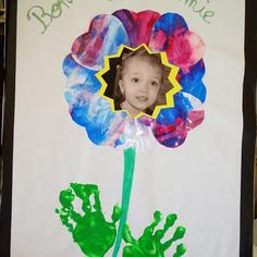 Fête des mères / grands mères fleur peinture propre Flowers