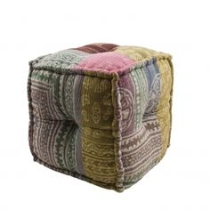 patchwork-pattern-square-pouffe £59.00