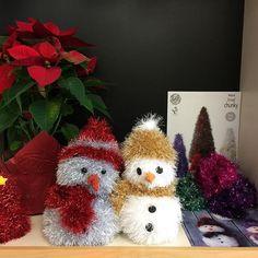 Cute little snowmen all bundled up for winter! King Cole, True North, Snowmen, Home Decor Inspiration, Photo And Video, Knitting, Winter, Handmade, Instagram