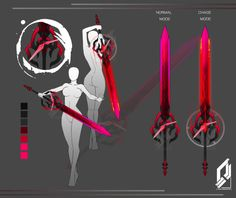 Crimson time sword by tiwlymaster Ninja Weapons, Anime Weapons, Sci Fi Weapons, Weapon Concept Art, Fantasy Sword, Fantasy Armor, Fantasy Weapons, Dark Fantasy Art, Fantasy Character Design