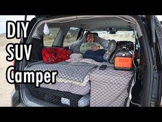 Minivan Camper Conversion, Suv Camper, Mini Camper, Camper Van, Minivan Camping, Travel Trailer Camping, Jeep Camping, Camping List, Camping Stuff