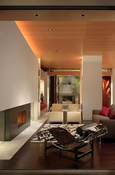 Stunning Berkeley Residence by Charles Debbas Architecture - I've always wanted a Le Corbusier lounge chair. One day...